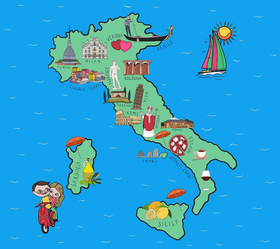 Sightseeing Tours Italy Map