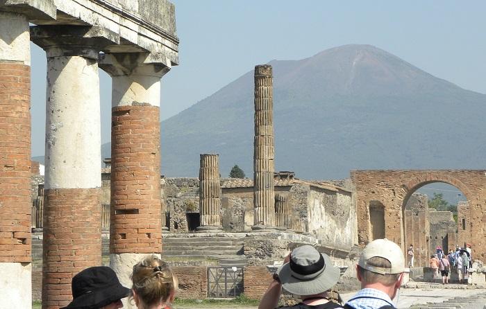 Ruins and Mount Vesuvius