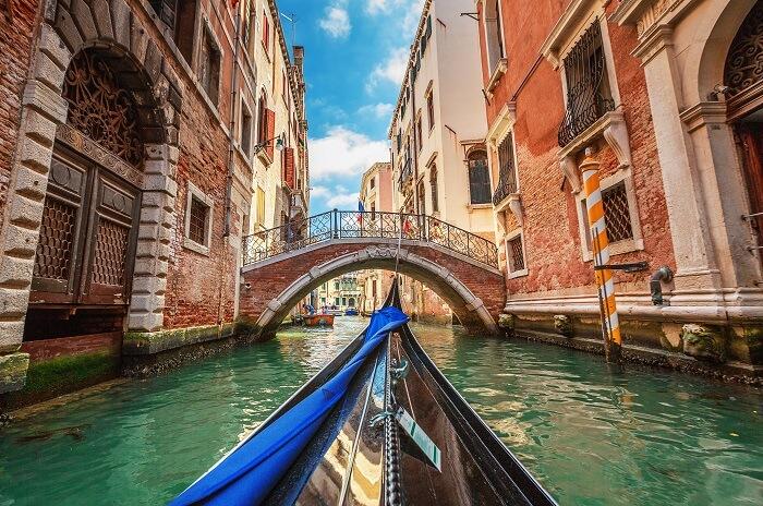 Smaller water ways of Venice