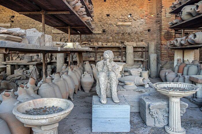 Fossilised Remains of Pompeii