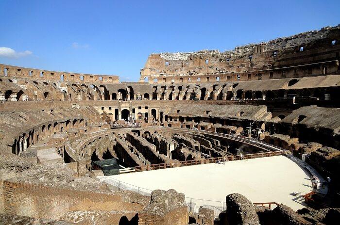 Inside the Colosseum