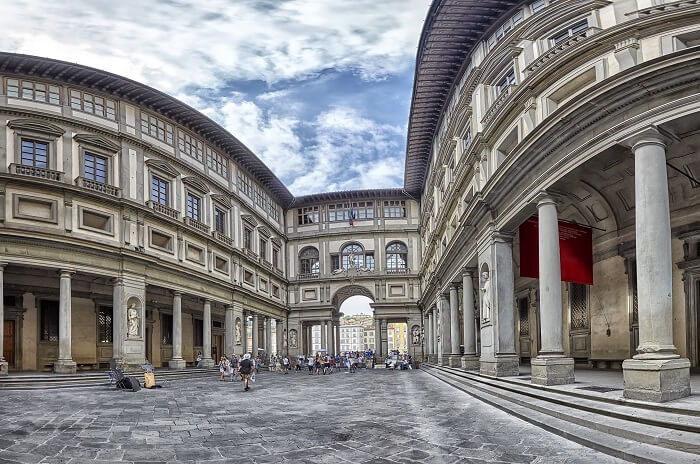 In front of the Uffizi Gallery