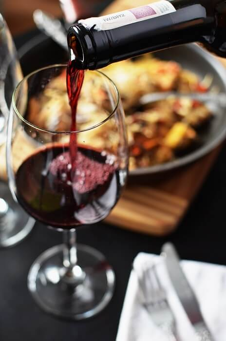 Tuscan Style dinner paired with wine