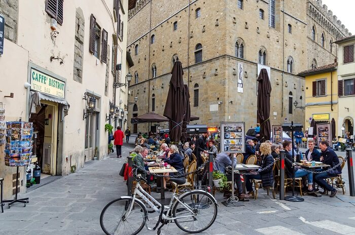 Exploring Florence on a bike
