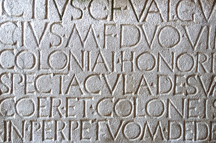 Ancient latin carving