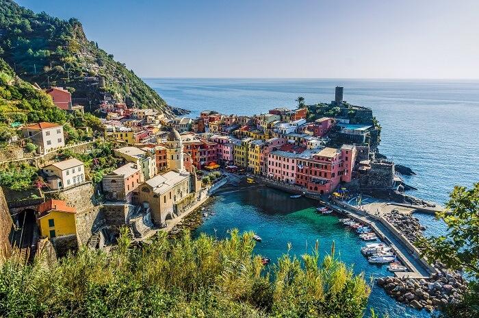 Ariel view of Cinque Terre