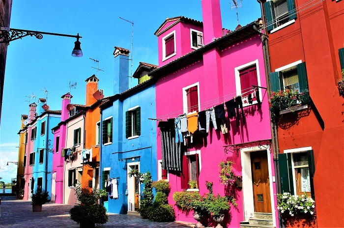 Multi coloured houses of Burano