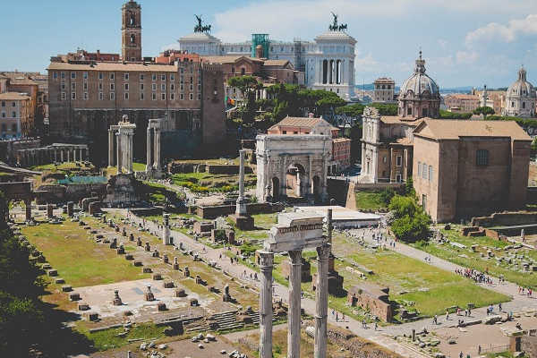 Roman Forum and Palatine Hill in Rome, Italy